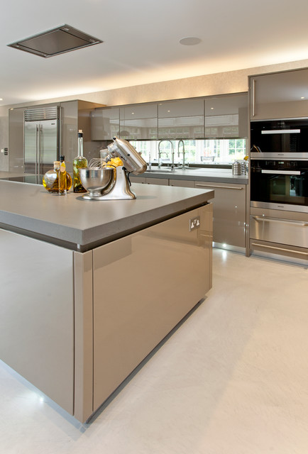 MicroCrete Polished Concrete Flooring Contemporary Kitchen