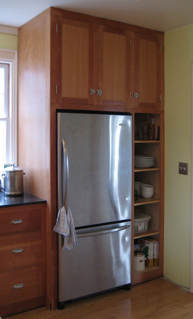 Microhouse Fremont Cottage Fridge Shelves Craftsman Kitchen Seattle By Microhouse