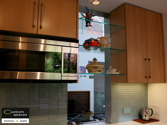 Microwave Cabinet And Pass Through Modern Kitchen San