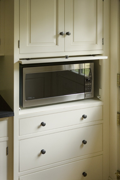 Microwave Cabinet - Traditional - Kitchen - boston - by Heartwood Kitchens