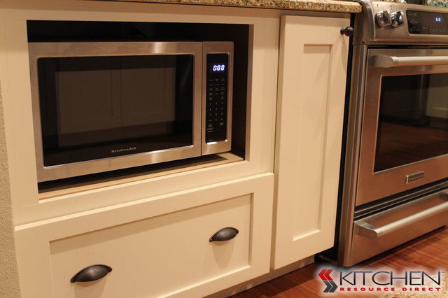 Microwave in Base Cabinet - Transitional - Kitchen - other metro - by Cabinets.com by Kitchen ...