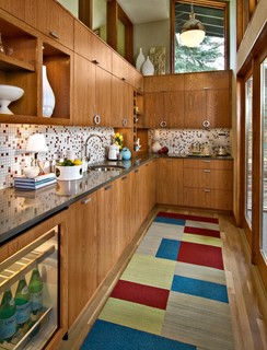 Mid-Century Butlers Pantry eclectic kitchen