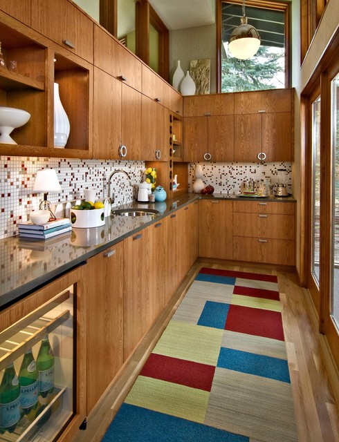 Mid-Century Butler's Pantry - Midcentury - Kitchen - Minneapolis - by Design By Lisa