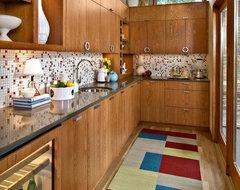 Mid-Century Butler's Pantry midcentury-kitchen