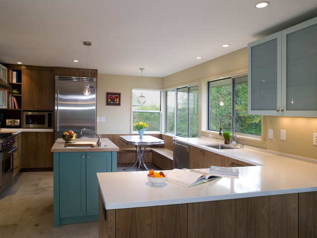 Mid Century Kitchen Remodel Modern Kitchen Seattle by SHKS