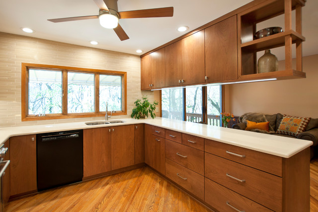 Mid Century Meets Modern Midcentury Kitchen Nashville By Hermitage Kitchen Design Gallery