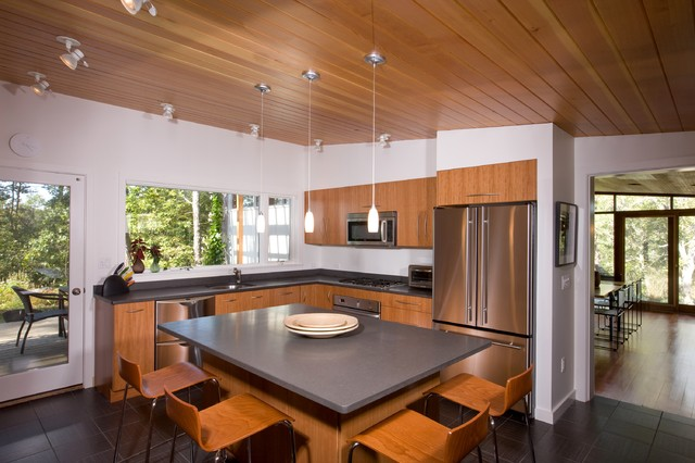 Century Hardwood Flooring 1850s hay house the way in which flooring was sawed had much to do with the beauty of the grain and the durability of the surface Midcentury Kitchen By Hammer Architects