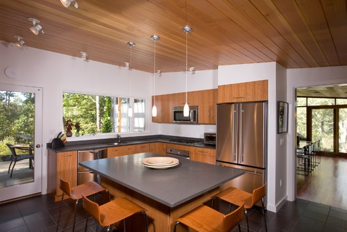 Planked Wood Ceilings And Walls For
