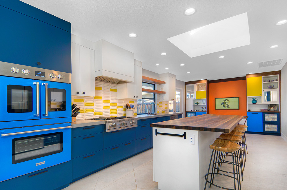 Mid Century Modern + Colorful Kitchen + Home Chef = AMAZING PROJECT