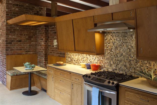 Mid Century Modern Galley Kitchen
