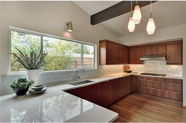 Mid century modern in seward park for American kitchen design gallery