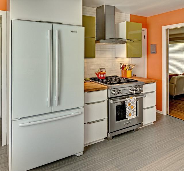 Mid century modern kitchen traditional kitchen for Kitchen design nelson