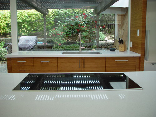 mid century modern kitchen. mid century modern kitchen - cooktop + sink (kpkm)