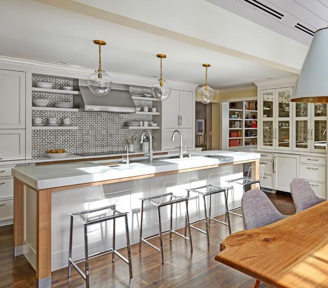 Mid Century Modern Kitchen Glen Ellyn Il Transitional