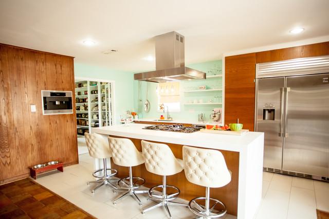 Mid Century Modern Kitchen Modern Kitchen Houston By Cat Anderson Design