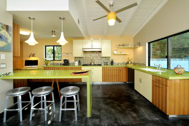Mid Century Modern Kitchen contemporary-kitchen