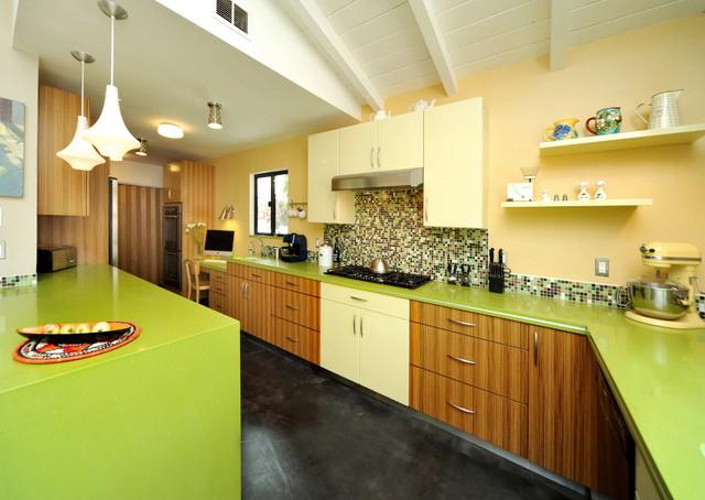 kitchen by la dwelling - Colorful Kitchens