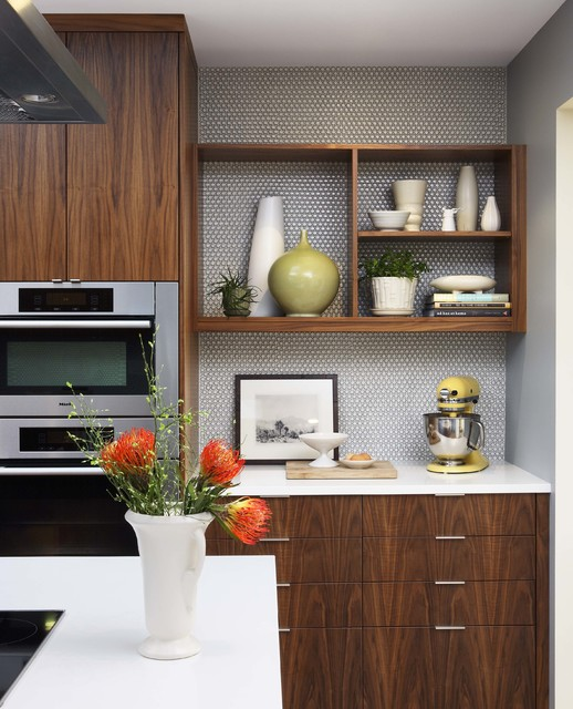 Houzz Home Design Ideas: Mid-Century Modern Kitchen