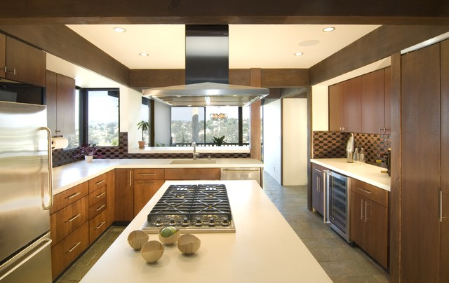 Mid Century Modern Kitchen Update Modern Kitchen Los Angeles By Alison Designs