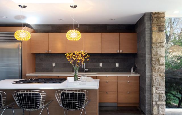 Mid Century Modern Masterpiece Modern Kitchen St Louis By Cure Design Group