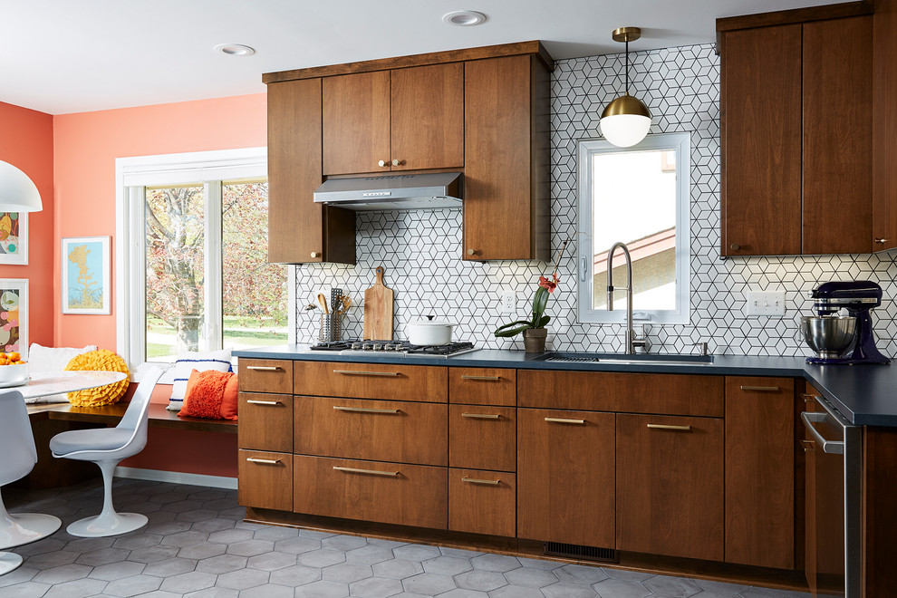 Mid Century Modern Meets 2020 Midcentury Kitchen Minneapolis By Fox Interiors