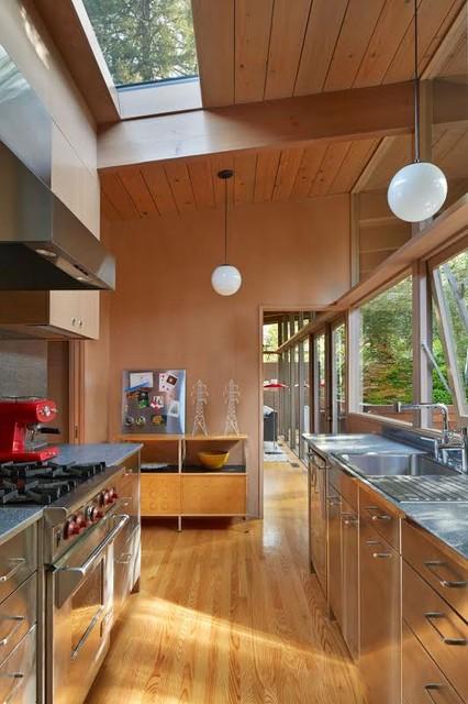 Mid century modern renovation addition midcentury - Mid century kitchen cabinets ...