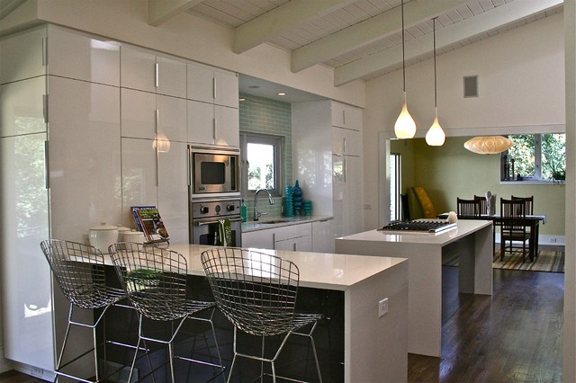 Mid-Century Ranch - Kitchen - Midcentury - Kitchen - Atlanta ... on designs for stairs raised ranch homes, kitchen remodel ideas for ranch style homes, raised ranch kitchen remodel ideas,