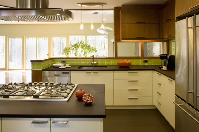 Mid century re modern modern kitchen dc metro by for Kitchen designs 2017 india