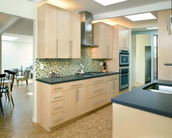 mid-century zen kitchen