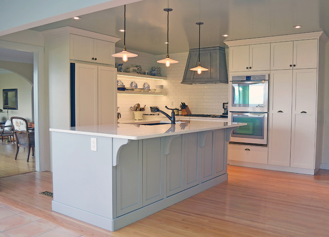 Mid island cabinets custom cabinetry farmhouse kitchen for Kitchen cabinets vancouver island