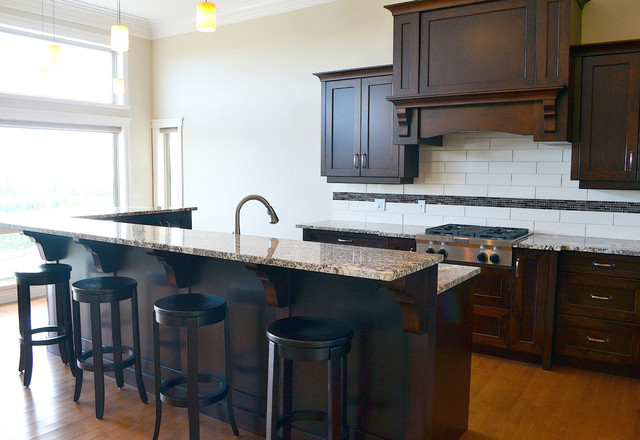 Mid Island Cabinets Custom Cabinetry - Traditional ...