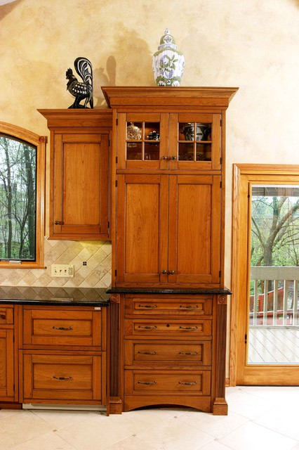 Mid tone wood cabinet - Eclectic - Kitchen - Chicago - by Normandy ...