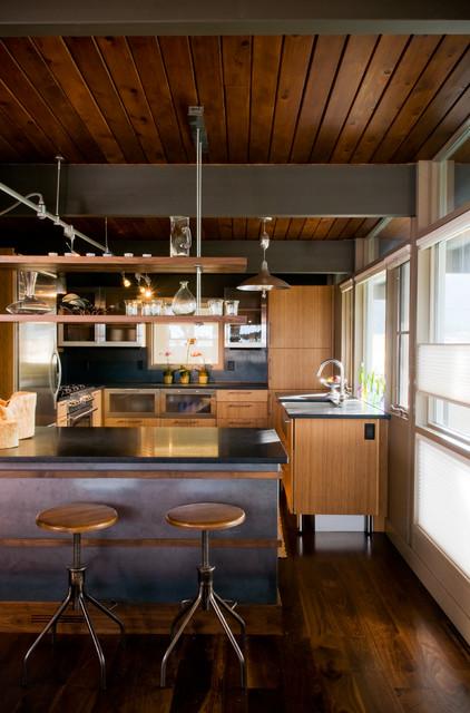 Sourdough Home midcentury-kitchen