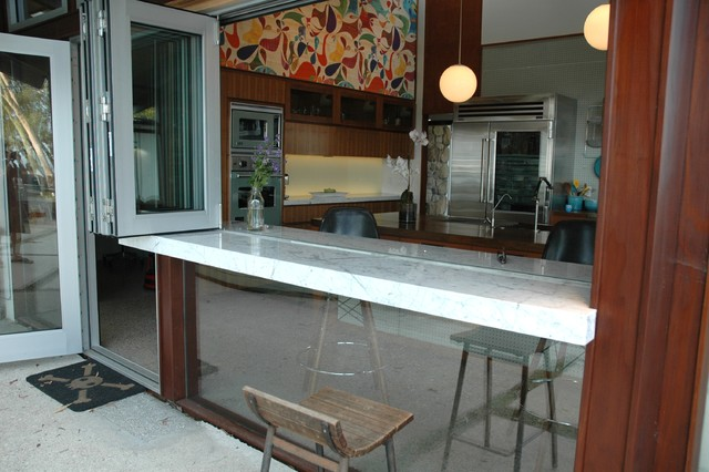 Midcentury riviera for Kitchen window bar ideas