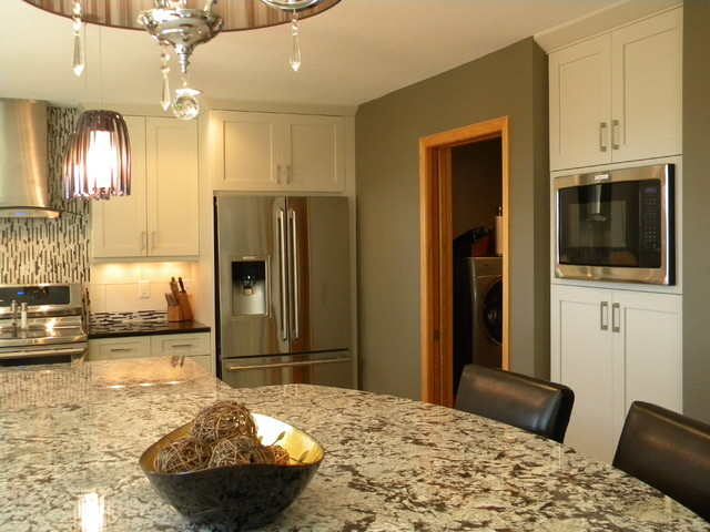 Midwestern Mod contemporary-kitchen