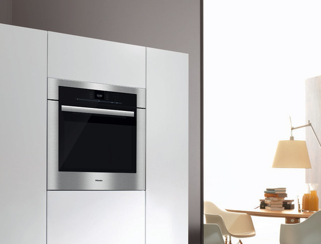 miele 30 convection oven stainless steel h6580bp contemporary kitchen los angeles by. Black Bedroom Furniture Sets. Home Design Ideas