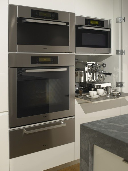 Miele ovens and espresso cabinet modern kitchen san for Modern kitchen company