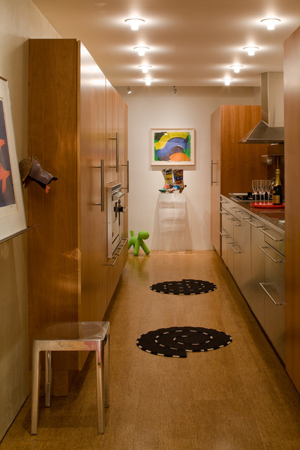 mies van der rohe condo highfield house contemporary kitchen baltimore by johnson berman. Black Bedroom Furniture Sets. Home Design Ideas