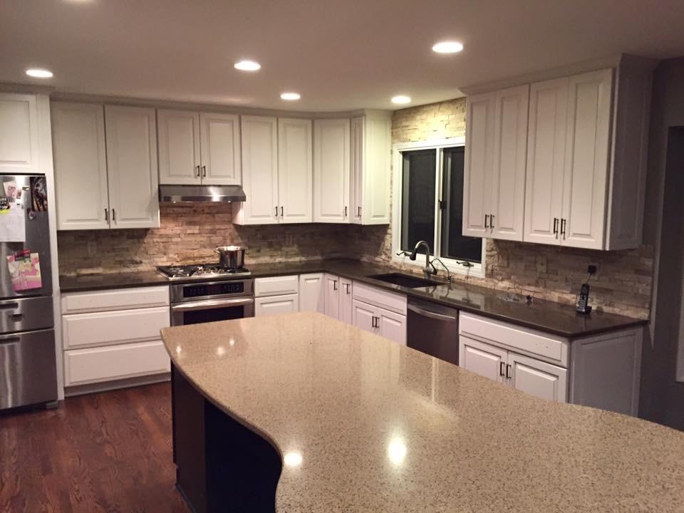 Milford, Michigan Kitchen Refinish - Transitional ...