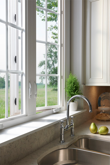 Milgard tuscany series windows in kitchen traditional for Milgard windows