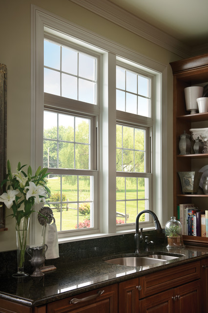 Milgard tuscany windows in kitchen traditional for Milgard vinyl windows