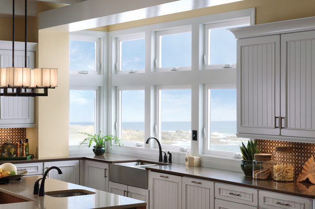 Milgard tuscany windows in kitchen eclectic kitchen for Milgard vinyl windows
