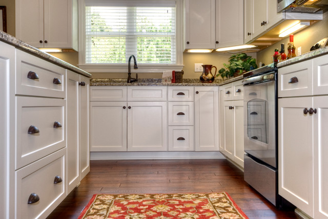 Ordinaire Kitchen   Traditional Kitchen Idea In Miami With An Undermount Sink,  Recessed Panel Cabinets