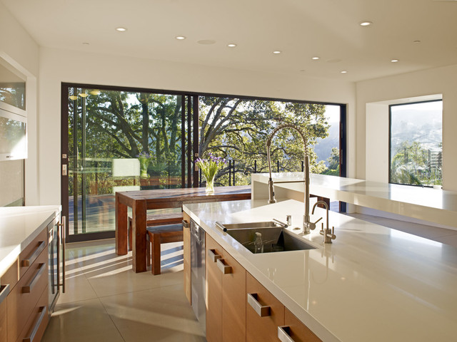 Mill valley contemporary kitchen dining indoor outdoor for Indoor outdoor kitchen designs