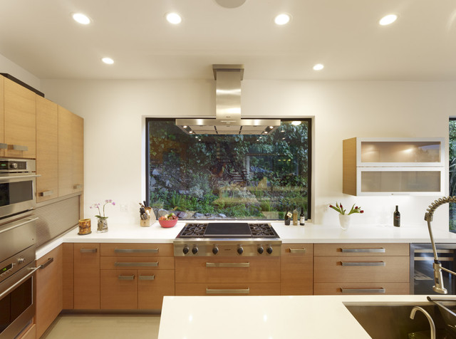 Mill Valley Contemporary Kitchen With Window At Range Modern