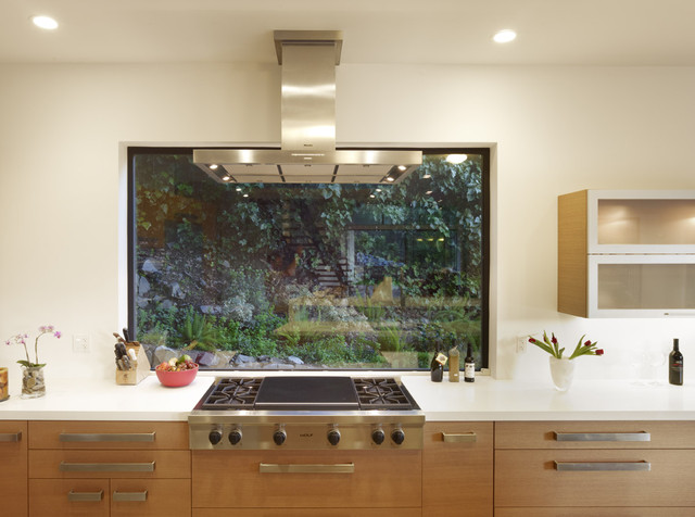 Mill Valley Contemporary Kitchen With Window At Range