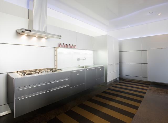 Millennium Tower Loft contemporary-kitchen