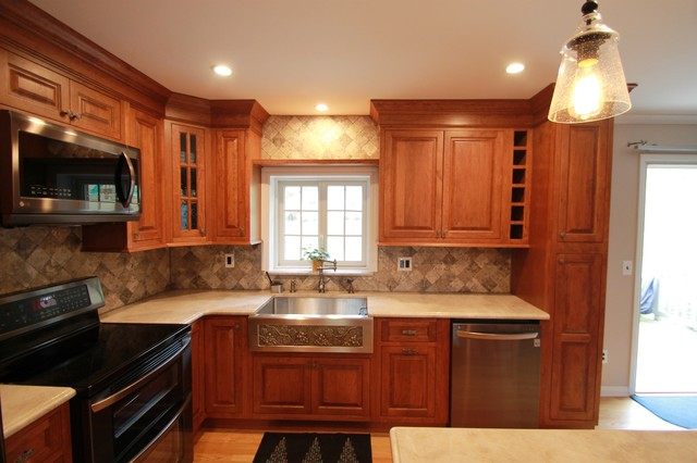 Mine Hill Bi-Level Kitchen Remodel - Traditional - Kitchen - new york - by Meyko Home ...
