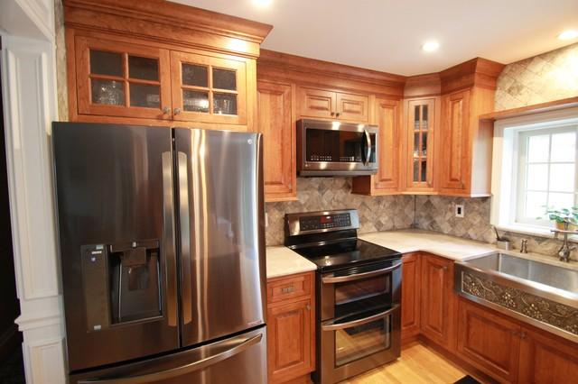 Mine hill bi level kitchen remodel traditional kitchen for Bi level kitchen remodel ideas
