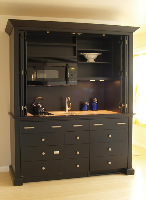 mini kitchen hides all appliances contemporary kitchen other metro by yestertec design. Black Bedroom Furniture Sets. Home Design Ideas